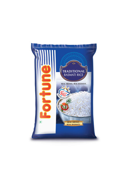 Fortune Traditional Basmati Full Grain Rice, 25 kg