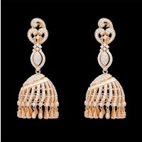 Diamond Earrings, 4.69cts, 18k 38.36gms, e/f-vvs