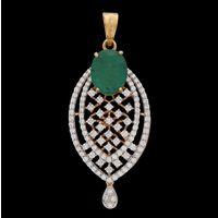 Diamond Pendant, 1.31cts, 18k 7.10gms, e/f-vvs