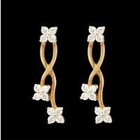 Diamond Earrings, 0.48cts, 18k 3.42gms, e/f-vvs