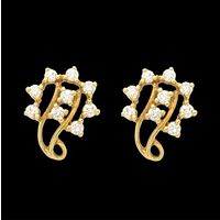 Diamond Earrings, 0.44cts, 18k 4.05gms, e/f-vvs