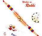 Aapno Rajasthan Royal Shade Beads Thread Rakhi, set of 2 rakhis