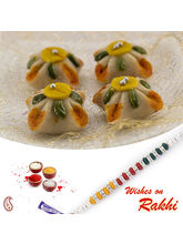 Aapno Rajasthan Kaju Tak Sweet With Free 1 Bhaiya Rakhi, only rakhi with 1000 gms sweet