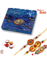 Aapno Rajasthan Set Of 3 Traditional Rakhis With R...