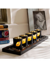 Aapno Rajasthan Set Of 5 Tea Light Holders With Decorative Tray (TLT1505)