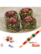 Aapno Rajasthan Chocolate Sweet With Free 1 Bhaiya Rakhi, only rakhi