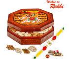Aapno Rajasthan Designer Dryfruit Box With Rakhi