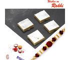 Aapno Rajasthan Kaju Kesar Barfi With Free 1 Bhaiya Rakhi, only rakhi