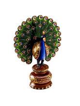 Aapno Rajasthan Beautiful Wooden Multicolor Dancing Peacock (CMC0914)