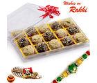 Aapno Rajasthan Premium Kaju & Chocolate Mix Laddu Rakhi Hampers With Free 1 Rakhi