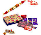 Aapno Rajasthan Floral Design Box With Chocolate Hamper