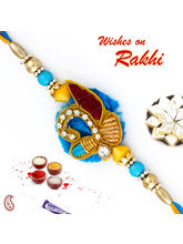 Aapno Rajasthan Multicolor Beads Rakhi With Ad & Z...
