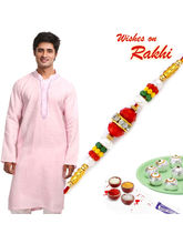 Aapno Rajasthan Light Pink Embroidered Kurta With ...