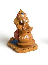Aapno Rajasthan Aapno Rajasthan Multicolor Terracotta Pot Making Ganesh Showpiece (TC15527)