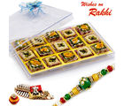 Aapno Rajasthan Premium Pista Delight & Mix Dryfruit Sweets Rakhi Hampers With Free 1 Rakhi