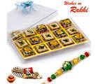 Aapno Rajasthan Premium Pista Delight & Mix Dryfruit Sweets Rakhi Hampers With Free 1 Rakhi