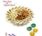 Aapno Rajasthan Floral Shape Gold Finish Dry Fruits Tray