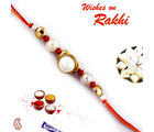 Aapno Rajasthan Pearl And Gold Beads Handcrafted Mauli Rakhi, only rakhi