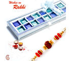 Aapno Rajasthan Exclusive Gift Box Of Premium Home Made Chocolates With Rakhi