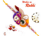 Aapno Rajasthan Purple & Yellow Beautiful Zardosi Rakhi, set of 2 rakhis