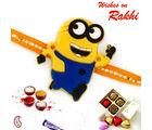Aapno Rajasthan Charming Yellow Minion Kids Rakhi, set of 2 rakhis