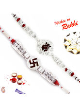 Aapno Rajasthan Set Of 2 Silver Divine Rakhi, Only...