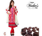 Aapno Rajasthan Gorgeous Red Suit And Red Dupatta For Mother's Day