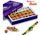 Aapno Rajasthan Premium Assorted Kaju Sweets & Bundi Laddoo With Free 1 Rakhi