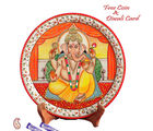 Aapno Rajasthan Divinely Painted Lord Ganesh Plate