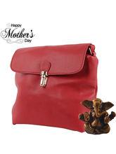 Tamirha Maroon Sling Bag With Stylish Appearance F...