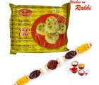 Aapno Rajasthan Haldirams Soan Cake Pack With Bhaiya Rakhi, with 1 rakhi