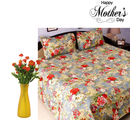 Aapno Rajasthan Combo Of Cotton Bedsheet And Decorative Flowers