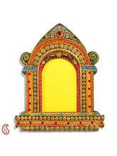 Aapno Rajasthan Royal Palace Window Wood And Clay Art Work Wall Photo Frame (WUDCLY1458)