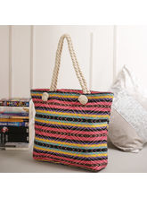 Tamirha Stripes Patterned Multicolor Hand Bag For ...