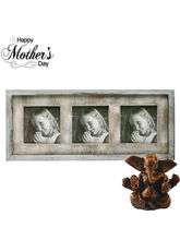Aapno Rajasthan Trio Photo Frame Crafted In Wood A...