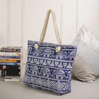 Tamirha Deep Shine Blue Contemporary Print Handbag...
