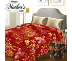 Aapno Rajasthan Pure Cotton Double Bed Cover with Floral Motif design & Katha Work for Mother's Day