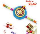 Aapno Rajasthan Multicolor Rainbow Style Kids Rakhi, only rakhi