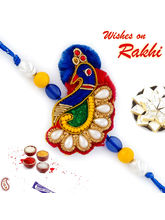 Aapno Rajasthan Multicolor Beads Peacock Shape Zar...
