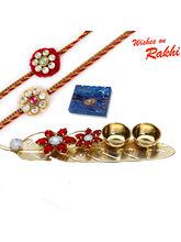 Aapno Rajasthan Charming Leaf Shape Rakhi Pooja Th...