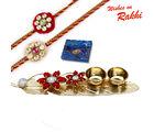 Aapno Rajasthan Charming Leaf Shape Rakhi Pooja Thali with Set of 2 Charming Rakhis, only rakhi