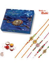 Aapno Rajasthan Set Of 5 Elegant & Charming Rakhis...