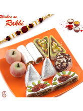 Aapno Rajasthan Kaju Mix Sweet With Free 1 Bhaiya Rakhi, with 400 gms sweets