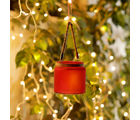 Aapno Rajasthan Red And White 2 Hanging Bucket Style Tealight Holders (TLT1521)