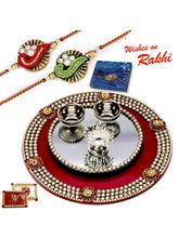 Aapno Rajasthan Crystal Studded Rakhi Pooja Thali ...