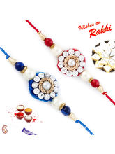 Aapno Rajasthan Set Of 2 Red & Blue Beautifully Je...