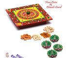 Aapno Rajasthan Square Designer Box With Dryfruits