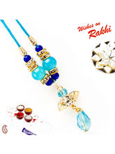 Aapno Rajasthan Charming Blue Beads & AD Studded L...