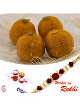 Aapno Rajasthan Bundi Laddu Sweet With Free 1 Bhaiya Rakhi, only rakhi with 1000 gms sweet