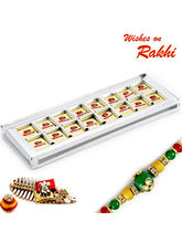 Aapno Rajasthan Premium Choco Bite Slice Sweets Pack With Free 1 Rakhi